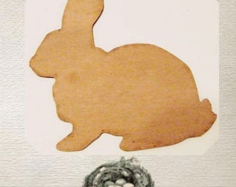Bunny / Easter Bunny / Rabbit Wood Cut Out - Laser Cut