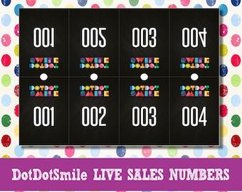 Chalkboard DotDotSmile Live Sales Numbers; facebook live sales, dot dot smile number, dds live number, dot dot live sale, dot smile facebook