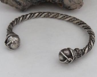 Sterling silver cuff bracelet, twisted, southwestern, horse whisperer, men's or women's, vintage, 26.5 grams