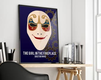 The Girl in the Fireplace | Doctor Who | Poster Print Design | A0 A1 A2 A3 A4