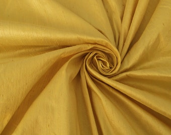Champagne Gold 100% Dupioni Silk Fabric Wholesale Roll/ Bolt