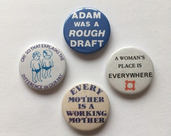 Feminist Vintage Remake 4 Badge Set