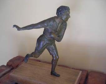 Vintage Sporting Figure. Sporting Statue Figure. Statue of a Man.