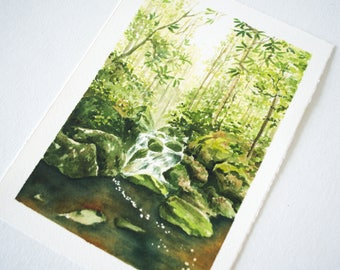 Otter Creek Wilderness Watercolor Print - WV Landscape Print - Landscape Watercolor Illustration