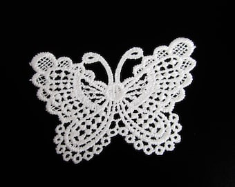 Sold individually Butterfly guipure lace applique