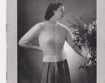 ON SALE Vintage 1940s - Paton's Knitting Pattern No 339 For Women/Ladies - Original Pattern
