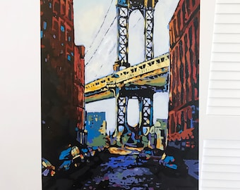 Painting: DUMBO - New York City Art (Inquire Directly, Not For Sale on ETSY)