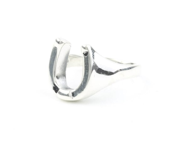 Sterling Silver Horeshoe Ring, Good Luck, Horse, Cowboy, Boho, Bohemian, Gypsy, Festival Jewelry, Western