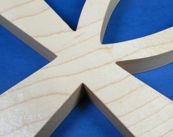 Ankh Cross / Egyptian Symbol / Life / Hard Maple Wood