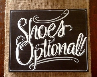 Shoes Optional sign on 8x10 canvas, hand painted