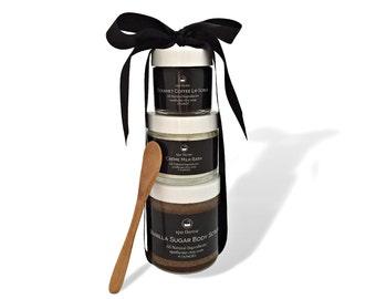 Coffee Gift Set - Bath and Body Products | Spa | Bath Soaks | Sugar Scrubs | Lip Scrubs | Spa Gift Sets | Coffee | Vanilla | Wedding