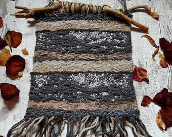 Woven Wool Wall Hanging, Woollen Wall Hanging, Rustic Wall Hanging, Wall Art, Unique Wall Decor, Wall Tapestry, Handcrafted Textiles, Boho