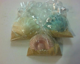 Chocolate seashell favor bags Beach Summer  Wedding Favors