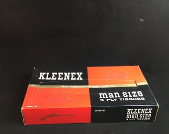 Vintage 1938 Kleenex Man Size 3-Ply Tissues