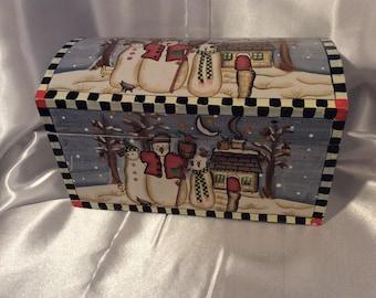 Vintage Winter Holiday Box