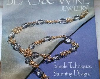 Making Bead and Wire jewelry by Dawn Cusick, Simple Techniques,Stunning Designs, Jewelry making book, instructions- DESTASH by enchantedbeas