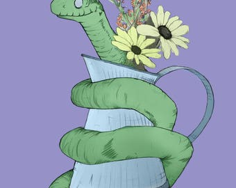 Snake in a jug - A3 poster