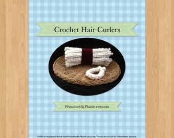 Crochet Hair Curlers, Easy Crochet Pattern