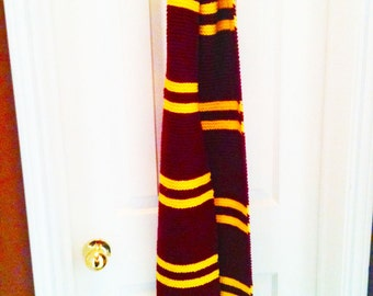 Wizarding Cosplay Scarf, Red and Gold