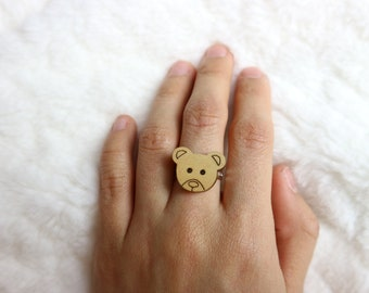 Wooden Teddy Ring