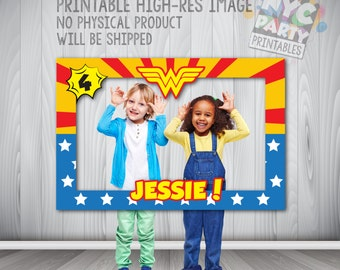 Wonder Woman Party, Wonder Woman Photo Booth, Wonder Woman Frame, Wonder Woman Party, Wonder Woman Photo Booth Party Frame PRINTABLE