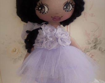 doll - textile doll -handmade doll - art doll