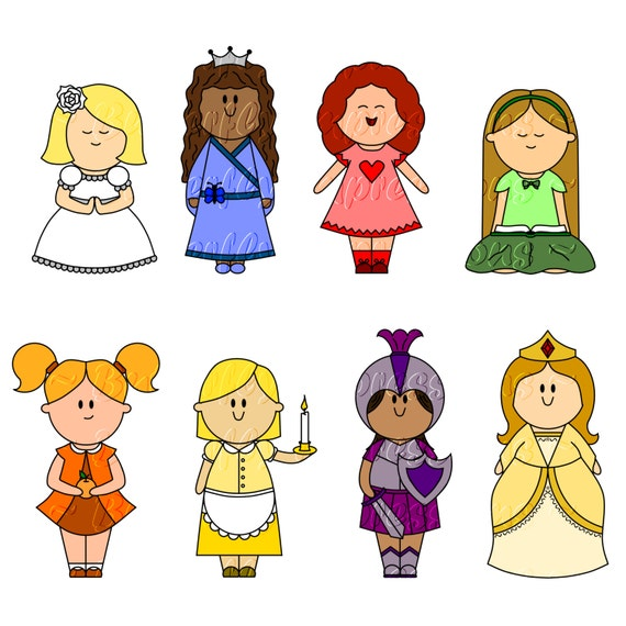 items similar to lds young women value girls symbols clip art on rh etsy com