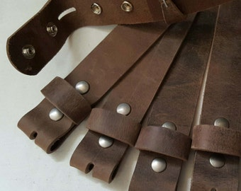 """Wedding Belts - Fawn Leather Snap Belts  - Suits or Jeans Made to Measure - Custom Cut Leather Snap Belts 1.5"""" or 1.25"""" Cut to Your Size"""