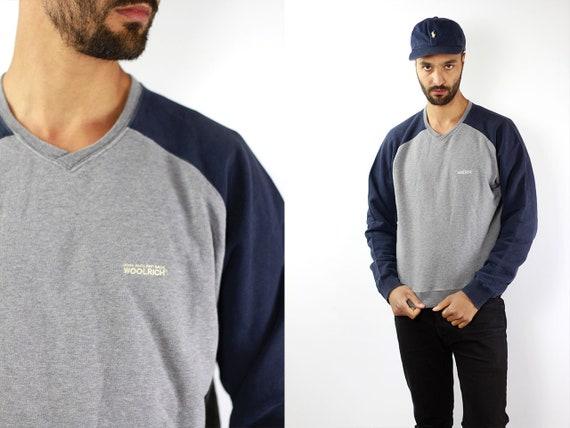 Woolrich Vintage Sweatshirt 90s Sweatshirt 90s Hoodie 90s Jumper Vintage Jumper Streetwear Oversize Sweatshirt Large Sweatshirt Sweatshirt