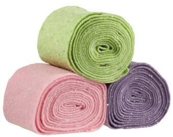 50 cm/half-metre Confetti felt strip, 15 cm wide, Color choice (colour: green)