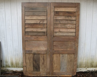 Shutter Doors Barn Doors Reclaimed Woods (Handmade) & Reclaimed doors | Etsy