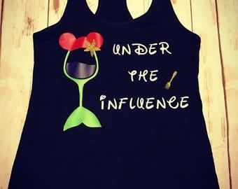 Under The Influence Disney Princess Wine Shirt- Princess Wine Little Mermaid Tank Top