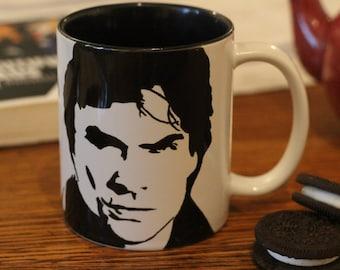 Ian Somerhalder, The Vampire Diaries, TVD, Damon Salvatore Mug, Hand Printed Mug