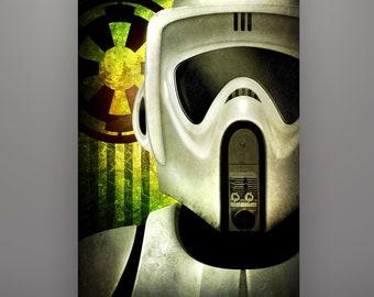 "Star Wars Inspired ""Scout Trooper"" Art Print Herofied Biker Scout Stormtrooper Return of the Jedi"