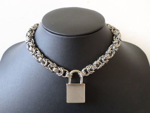 denimes padlock serge jewellery medium menswear necklace necklaces silver autograph in