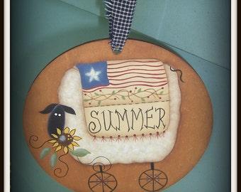Americana-Sheep-Summer-Ornament Home Decor Decoration Primitive