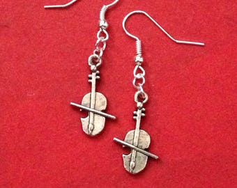 Cello Earrings, Cello Charm Earrings, Musical Gifts
