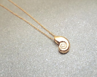 Ariel, Gold, Silver, Rose gold, Seashell, Necklace, Antique, Seashell, Jewelry, Lovers, Best friends, Mom, Sister, Gift, Accessory, Jewelry