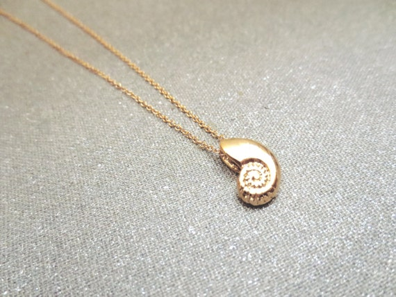 Ariel Gold Silver Rose gold Seashell Necklace Antique