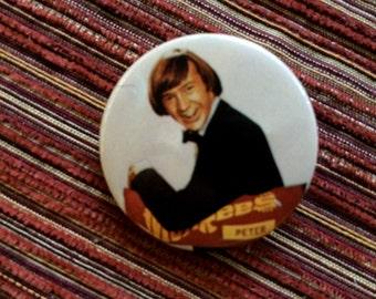 Monkee Pin,Rock Pinback,Monkee Fan,60s Rock Button,Monkee Jewelry,Monkee Souvenir,60s Rock Bands,60s Rock Music,Pop Music,Music Pinback