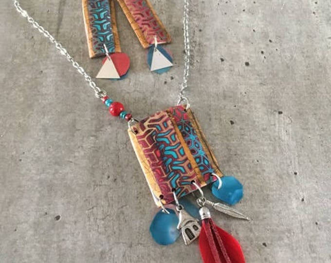 Polymer clay necklace - iowa - new collection