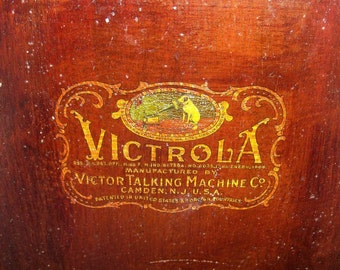 Victrola 1917 Victor Talking Machine Chest and Extras Antique Record Player Farm Estate FIND Now Reduced
