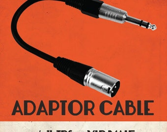 TRS-M To XLR-M Adaptor Cable