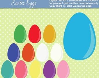 50% OFF 13 Eggs Clipart - Digital Clip Art  - Instant Download - Easter clipart - Egg clip art - eggs - egg - Easter - Easter eggs