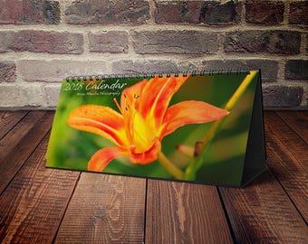 Best Seller, Desktop Calendar, Desk Calendar, Small Desk Calendar, 2018 Desk Calendar, Office Calendar, Monthly Calendar, Floral Calendar