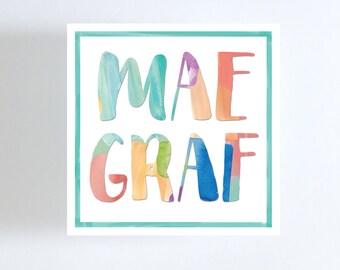 Graphic Art Gift Tag // Calling Card // Gift Enclosure