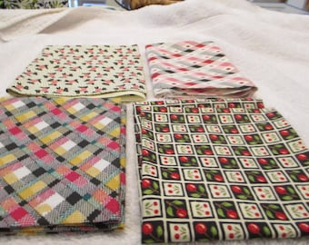 Fat Quarter Bundle of 4 fat quarters in black, white, and red A4