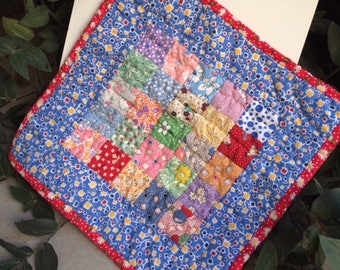 30s Handquilted Quilt for Pullip or Blythe