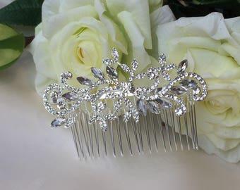 Crystal Bridal Hair Comb, Classic Bridal Hair Comb, Silver Crystal Bridal Hair Comb, Wedding Accessories, Bridal Hair Accessories, Hair Comb