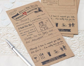 Vintage Wedding Advice Cards, Advice For The Bride & Groom, Wedding Day Props
